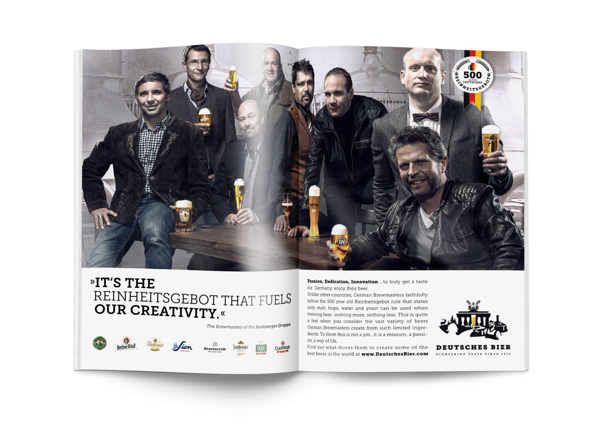 Deutsches Bier Magazine advert Brewmasters