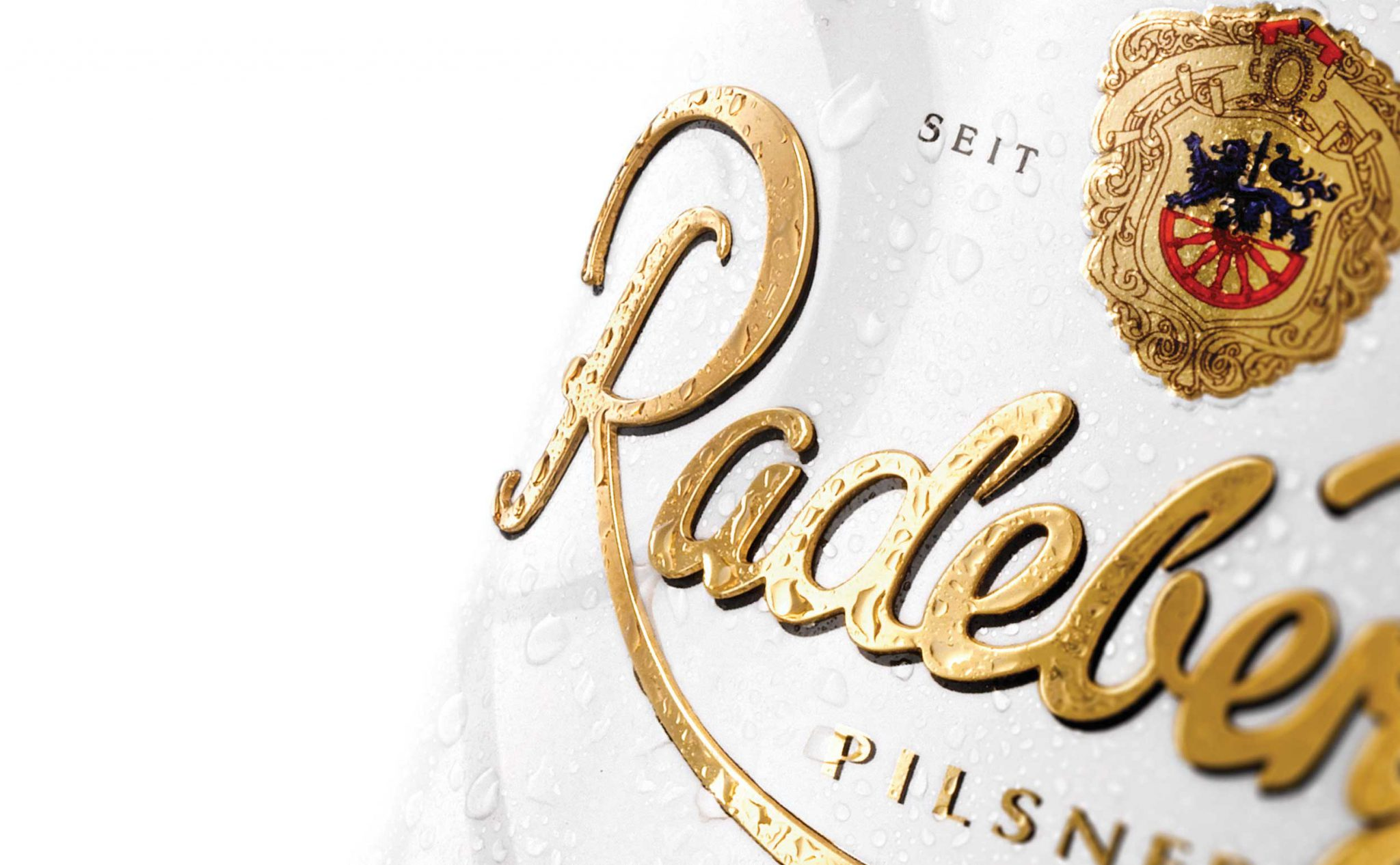 Radeberger Pilsner Label Closeup