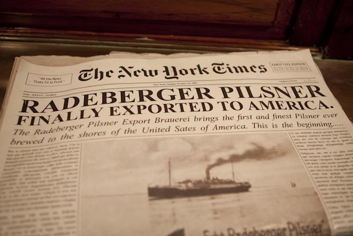 Radeberger Pilsner Maiden Voyage NYC
