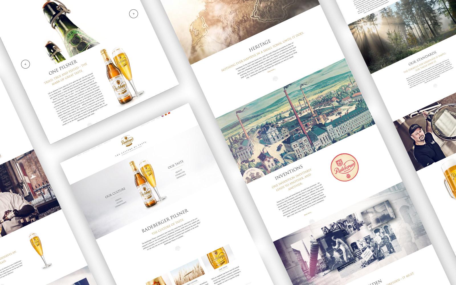 Radeberger Pilsner Website Overview
